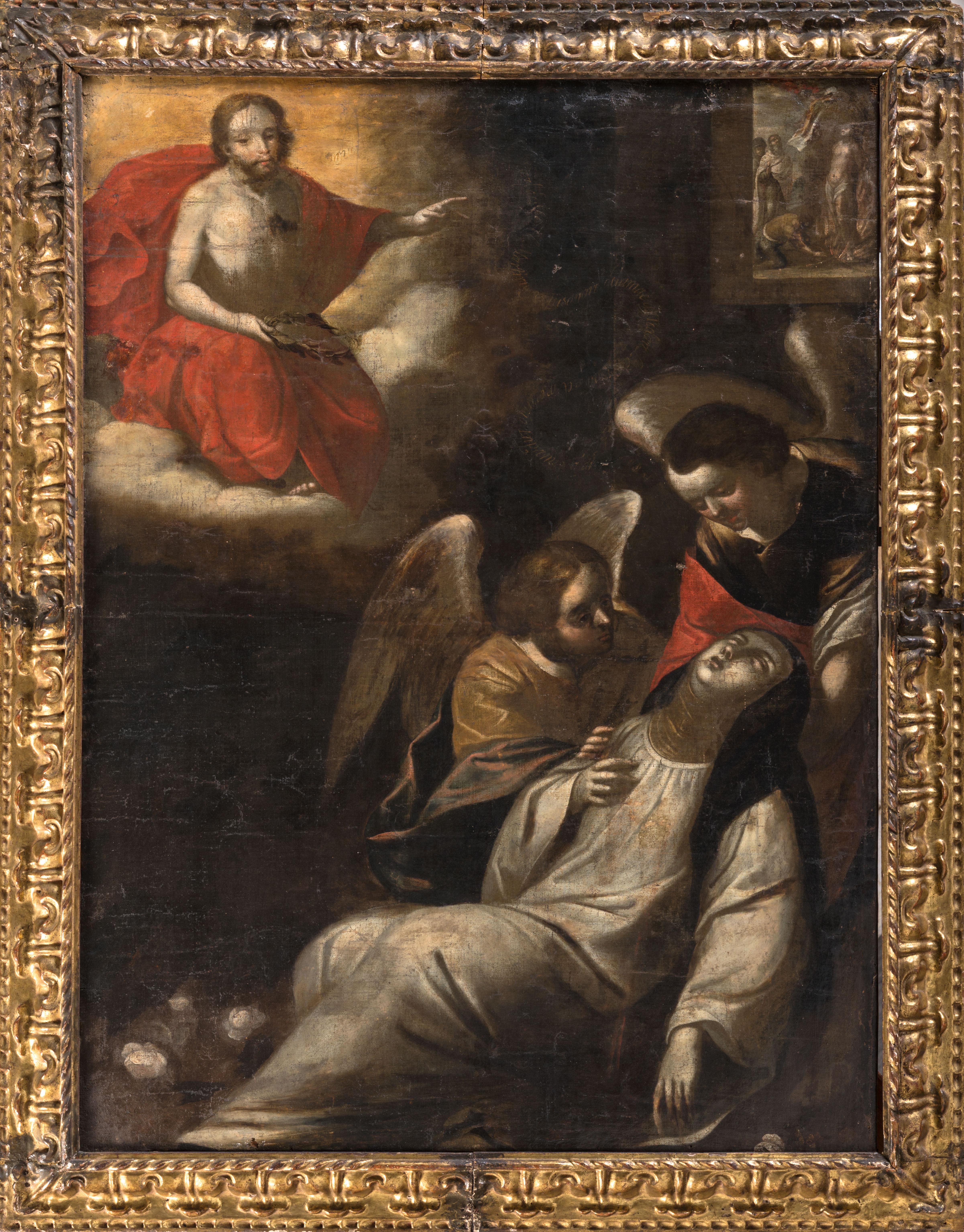 Santa Catalina De Siena Recibiendo La Corona De Espinas